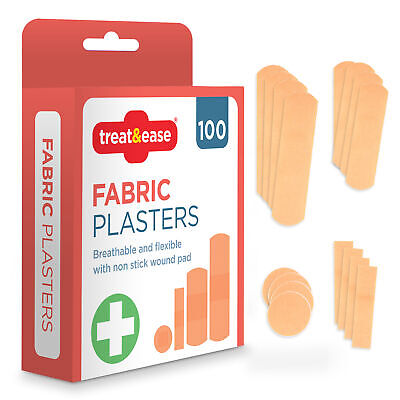 £2.99 • Buy 110 Assorted Fabric Plasters Breathable Flexible Adhesive First Aid Healing