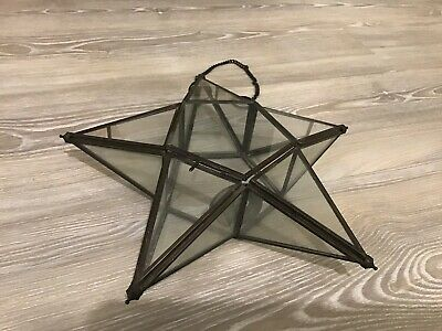 £15.95 • Buy Christmas Star Pendant Decor With Candle Holder
