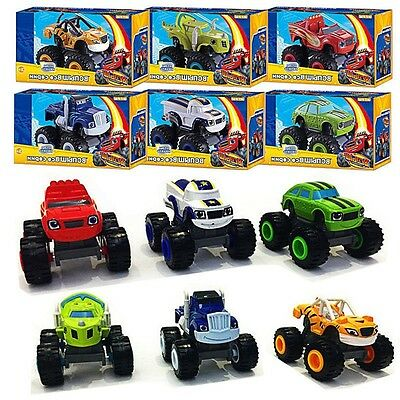 AU29.99 • Buy 6x Blaze And The Monster Machines Vehicles Toy Racer Cars Trucks Kid Set Gift