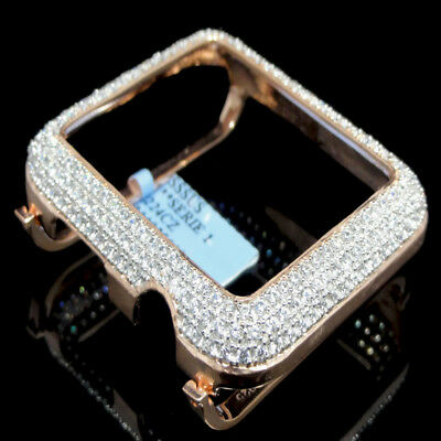 $ CDN153.75 • Buy Rose Gold On Silver Apple Series #1 White Cz Watch Case 42MM Sport Insert Bezel