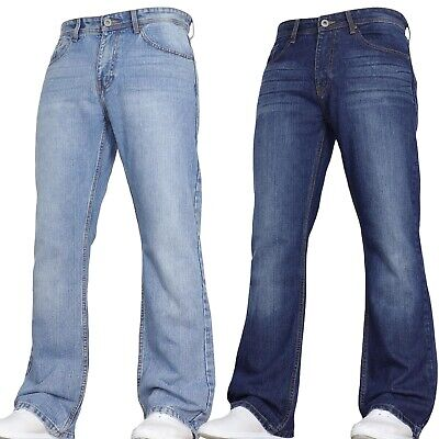 £12.99 • Buy New Mens Bootcut Flared Jeans Wide Leg Trousers Smart Pants Big All Sizes