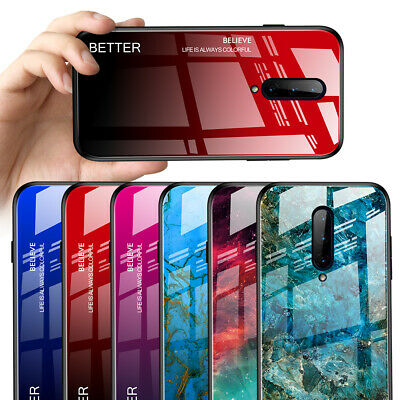 $ CDN2.26 • Buy For OnePlus 7 Pro 7 Luxury Gradient Tempered Glass Hard Protection Case Cover