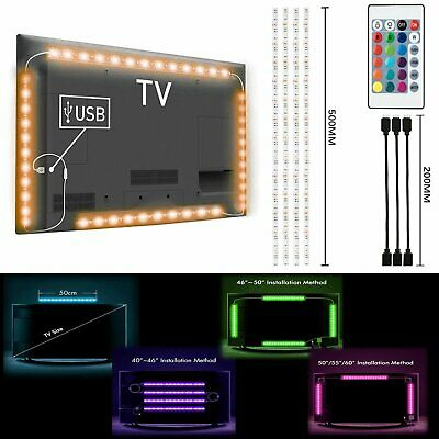 $8.98 • Buy 4Pcs USB Powered RGB 5050 LED Strip Lighting For TV Computer Background Light US