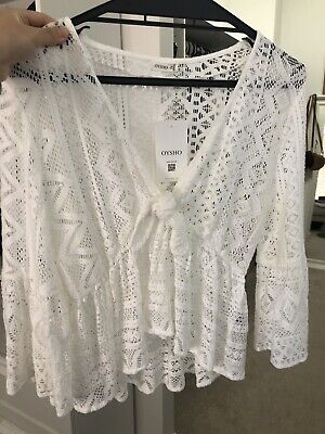 AU30 • Buy Oysho White Beach Top Size XS