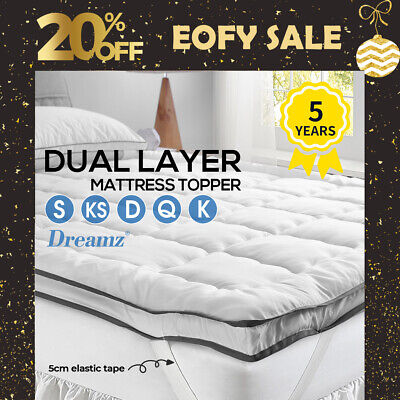 AU49.99 • Buy DreamZ Pillowtop Mattress Topper Luxury Bedding Mat Pad Protector Cover All Size