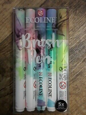 $19.99 • Buy Ecoline Liquid Watercolor Brush Pen, Set Of 5  (11509901) Pastel New