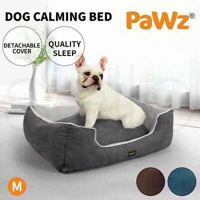 AU39.99 • Buy PaWz Pet Dog Cat Bed Deluxe Soft Cushion Lining Warm Kennel Mat Washable M