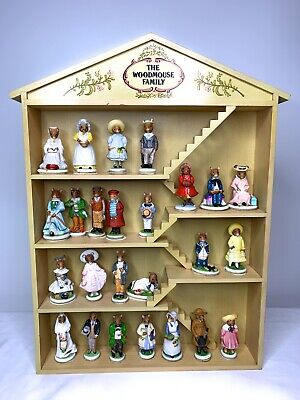 Franklin Mint 1985 The Woodmouse Family Porcelain 25 Figures • 57$