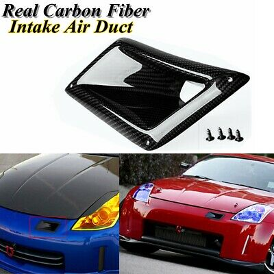 $40.97 • Buy Left Real Carbon Fiber Front Bumper Air Duct Vent Intake For Nissan 350Z 03-2009
