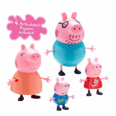 Peppa Pig Family Figures - Little Characters Toys - Mummy, Daddy, Peppa & George • 11.99£