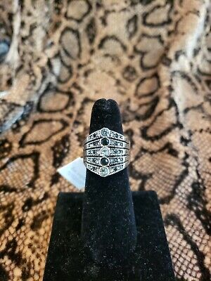 $ CDN20.05 • Buy Size 6 Lia Sophia Signed Jewelry Silver Plated Cut Crystals Ring Retired NWT