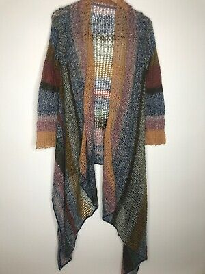 $ CDN40.17 • Buy Anthropologie Knitted & Knotted Rainbow Handkerchief Hem Cardigan Size Small