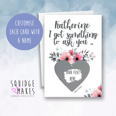 £3.70 • Buy Will You Be My Bridesmaid Scratch Card, Maid Of Honour Scratchcard Personalised