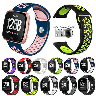 $ CDN6.58 • Buy For Fitbit Versa Sport Band Small Large Fitness Silicone TPU Strap Replacement