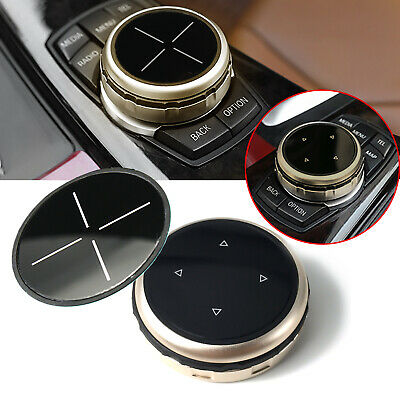 $18.98 • Buy 2.2  Gold ABS Multi-Media Knob Controller Trim For BMW X1 X3 X4 X5 X6 IDRIVE