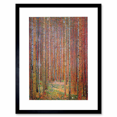 $ CDN17.34 • Buy Klimt Tannenwald I Old Master Painting Framed Art Print Picture Mount 12x16 Inch