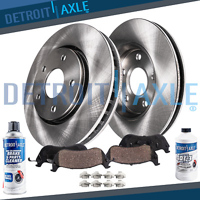 $112.94 • Buy 2005 2006 2007 2008 2009 2010 - 2012 Acura RL Front Brake Rotors + Ceramic Pads
