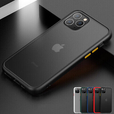 AU9.99 • Buy For IPhone 11/Pro/Max XS XR Bumper Hard Case Matte Clear Shockproof Slim Cover
