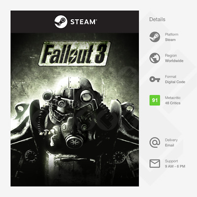 £1.89 • Buy Fallout 3 (PC) - Steam Key [GLOBAL, MULTI-LANG, INSTANT]