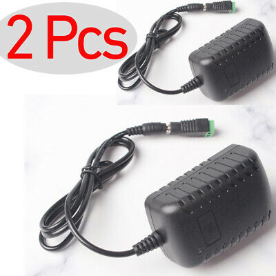 $8.88 • Buy 2 Pcs -LS AC 100-240V DC 12V 2A US Charger Power Supply Splitter Cable Adapter