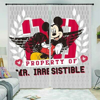 Mickey Mouse Nice Wings 3D Curtain Blockout Photo Printing Curtains Drape Fabric • 101.47£