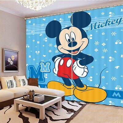 £32.17 • Buy Mickey Mouse's Waist 3D Curtain Blockout Photo Printing Curtains Drape Fabric