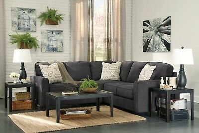 $850 • Buy Ashley Furniture Aleyna Charcoal Two Piece Sectional