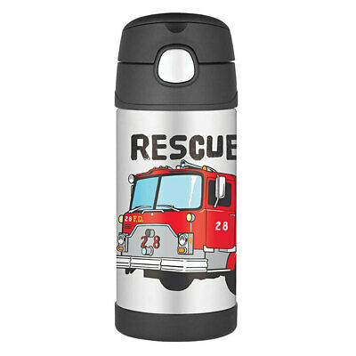 AU27 • Buy Thermos Funtainer 355ml Insulated Stainless Steel Water/Drink Bottle Fire Truck