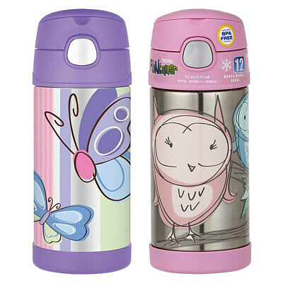AU45 • Buy 2pc Thermos Funtainer 355ml Insulated Stainless Steel Water Bottle Owl/Butterfly