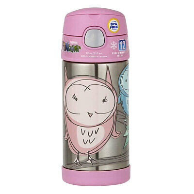 AU27 • Buy Thermos Funtainer 355ml Insulated Stainless Steel Water/Drink Bottle Pink Owl