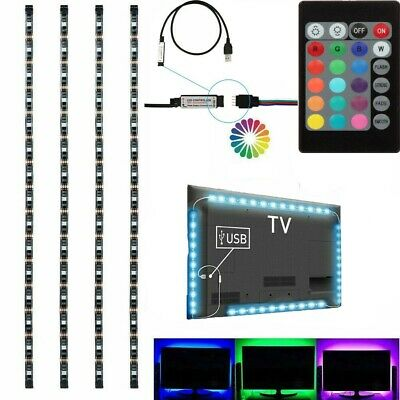 $8.99 • Buy USB RGB 5050 LED Bias Lighting Strip For TV LCD HDTV Monitor Background Light US
