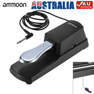 AU17.38 • Buy Ammoon Piano Keyboard Sustain Damper Pedal For Casio Yamaha Roland Black