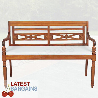 AU305.85 • Buy 2 Seater Outdoor Wooden Garden Park Bench Patio Seat Chair Cushion Furniture