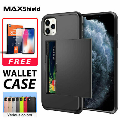 AU9.99 • Buy IPhone 11 Pro Max MAXSHIELD Case Wallet Card Holder Shockproof Cover For Apple