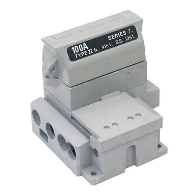 £36.99 • Buy Henley 54138-12 House Service Cut Out Fuse Carrier & Base SP&N 100AMP Rated