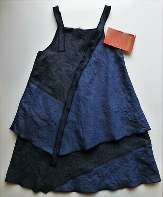 Girls Blue Marese Lagenlook Layered Dress Size 5yrs. • 10.50£