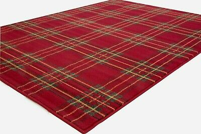 Small - Extra Large Mid-red Tartan Patterned Rug, Clearance Ltd Stock • 29.79£
