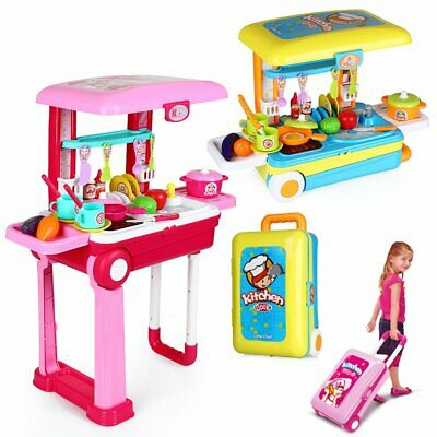 £11.99 • Buy Portable Electronic Children Kids Kitchen Cooking Girls Toy Cooker Play Set Gift