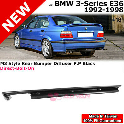 $56.99 • Buy Unpainted Black Rear Diffuser M3 Style For 92-98 BMW 3 Series E36 Valance 2D/4D