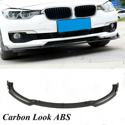 AU300.11 • Buy Carbon Look ABS Front Bumper Lip Splitter For BMW F30 F35 320i 328i Sedan13-18