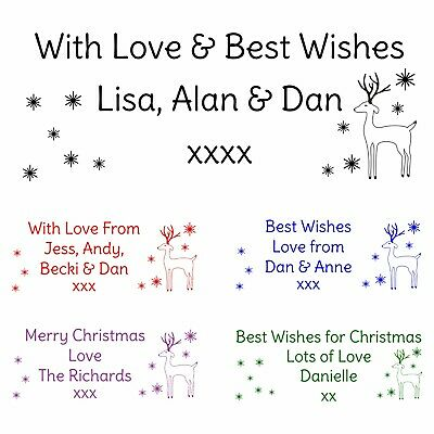 Personalised Christmas Card Rubber Stamp Self Inking Choice Of Colours Your Name • 9.95£