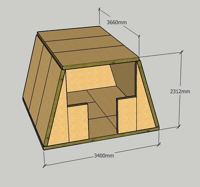 £100 • Buy Structural Insulated Panel Glamping Pods, In DIY SIP Kit Form
