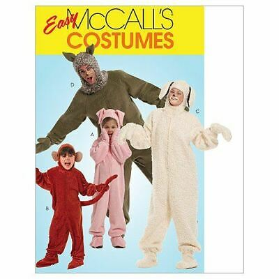McCalls Sewing Patterns 5956 Mens Misses Animals Costumes Size S-XL • 7.30£