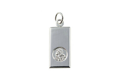 Sterling Silver St Christopher Dog Tag Ingot • 19.59£