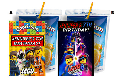$7.92 • Buy LEGO MOVIE 2 CAPRI SUN LABELS BIRTHDAY PARTY FAVORS SUPPLIES PERSONALIZED Suns