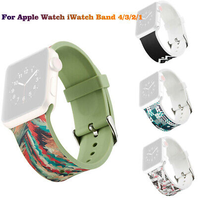 $ CDN14.31 • Buy For Apple Watch IWatch Band 4/3/2/1 Sport Silicone Strap 38mm/40mm -CA Hua20_7