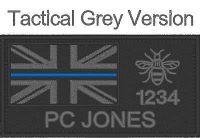 Police, Thin Blue Line, Badge Name Rank Number And Jack, Hook And Loop Taser • 8.99£