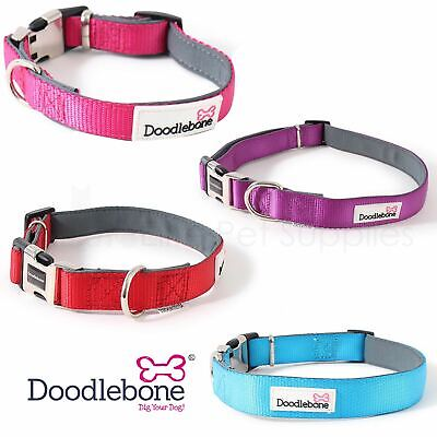 Doodlebone Dog Puppy Bold Padded Durable Adjustable Collars 4 Colours / 5 Sizes • 9.45£