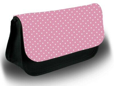 £12.99 • Buy Baby Pink And White Polka Dot Pencil Case Bag Stationery School Dots Dotted B645
