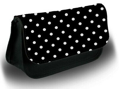 £12.99 • Buy Black And White Polka Dot Pencil Case Bag Stationery School Dotted Dots B668